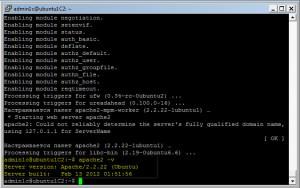 Установленная версия Apache 2.2